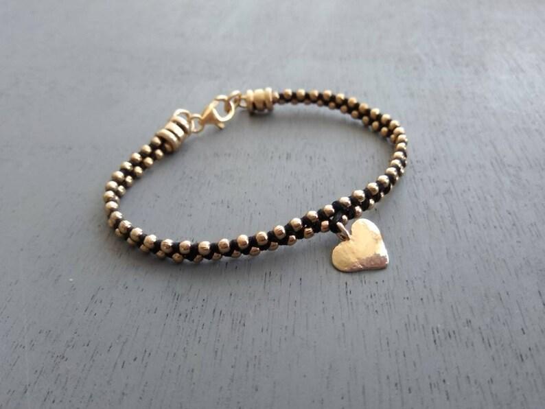 wedding gift wedding jewelry holiday gift gift for her wedding charm bracelet heart charm gold bracelet