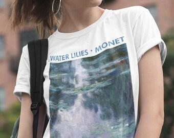 1dea74d6d Water Lilies Monet Shirt, Art Painting T-shirt, Impressionism, Claude Monet