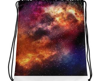 Galaxy Drawstring Bag - School Bag - Travel Bag - Gym Bag - Drawstring Bag  - Drawstring Backpack - Space Drawstring Bag - Galaxy Bag 0190f981b0