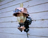 Wrought Iron Sconce, Wall Light, Lantern, Farm Country Vintage, Rustic Lantern, Farmhouse Style, Hammered Metal, Outdoor Lantern