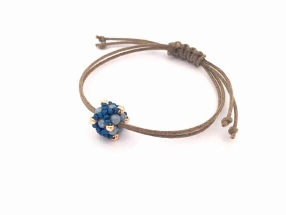 Adjustable Beaded Bracelet Minimalist Braceletbohemian Style Etsy