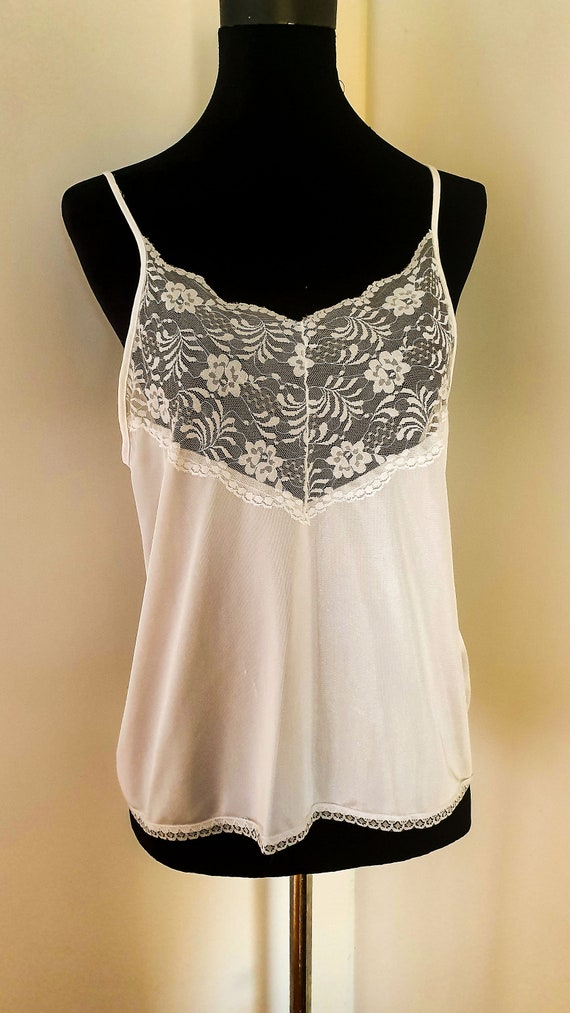 Norman Hartnell Vintage Tricot and Lace Camisole W