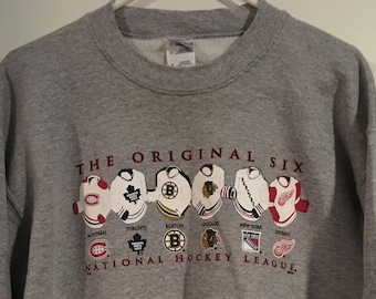 80d638683 NHL Vintage Original Six Crew Neck Sweatshirt By Gildan