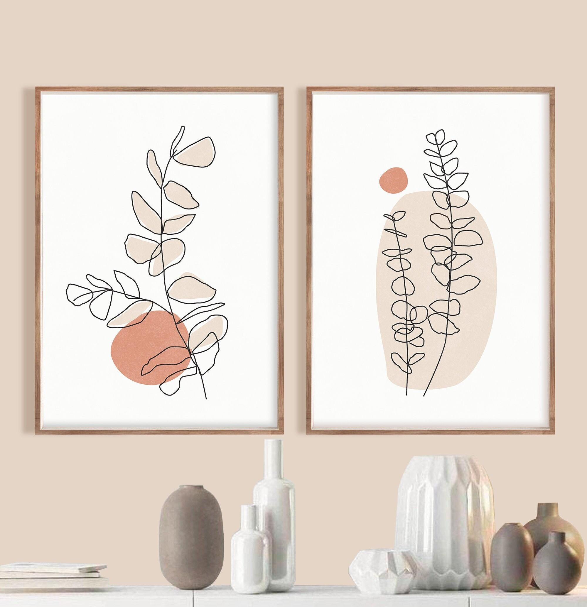 Botanical Line Art Print Set of 20 Minimal Botanical Art Boho   Etsy