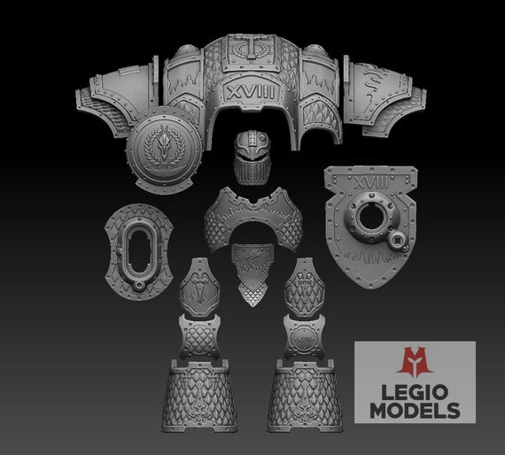 Imperial Knight Dragon Armor Kit Warhammer 40k Etsy In addition to the standard set of armor, this set includes a shield, and three variants of mittens. imperial knight dragon armor kit warhammer 40k