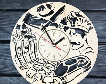 Swell Chef Wall Clock Etsy Home Interior And Landscaping Transignezvosmurscom