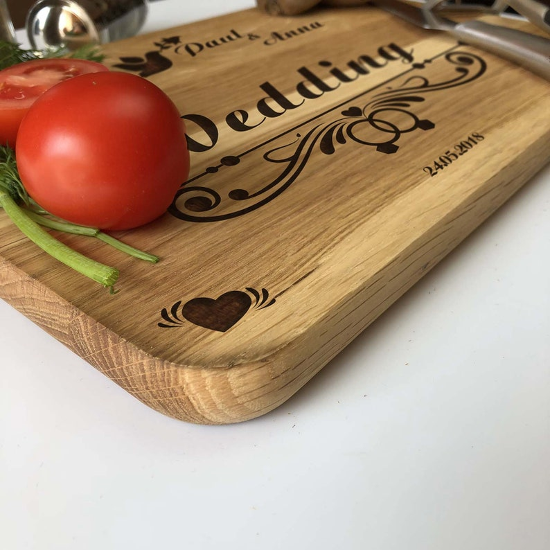 Personalized Cutting Board Chopping Kitchen Decor Housewarming Christmas Wedding Birthday Engraved Annivesary Block Cheese Wedding Board