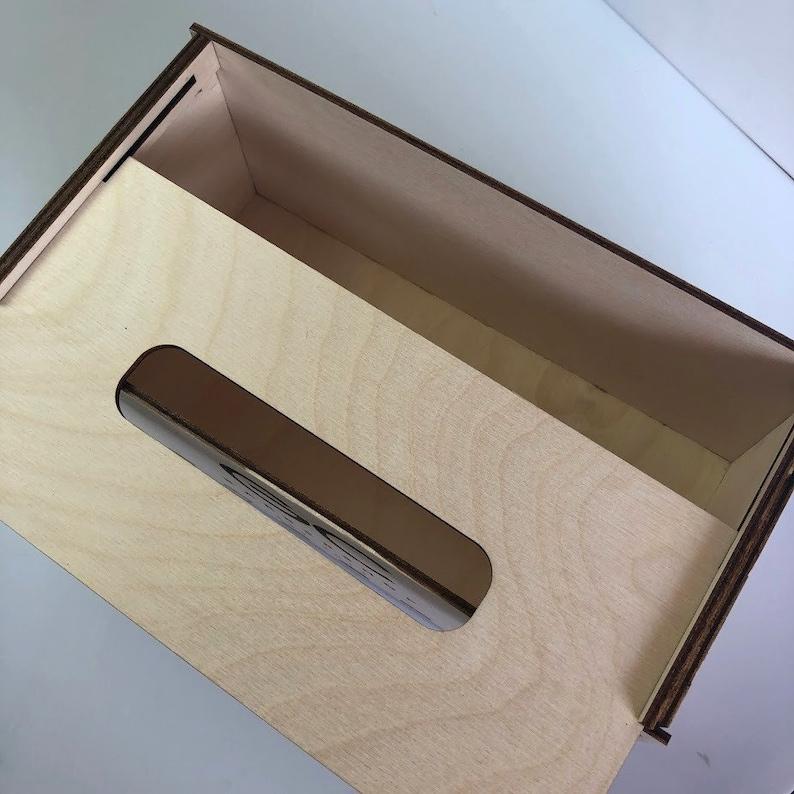 Napkin Holder Wood Tissue Box Cover Logo Personalized Storage Organizer Kitchen Decor Dining Table Rustic Centerpiece Paper Towels Monogram
