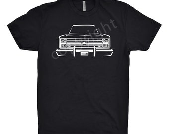 1987 Chevy C10 Shirt, Car Enthusiast, 1987 Chevy K10, 1984 1985 1986 1987 Chevy C10 Shirt, Square Body Shirt, Bow Tie Shirt, Car Art