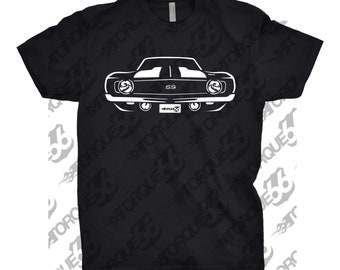 Classic Car Shirt of 1969 Chevy Camaro, Unisex, Car Enthusiasts, Car Apparel, CarT-Shirt, Gift, Camaro SS, 1967 1968 1969 1970 Camaro Shirt