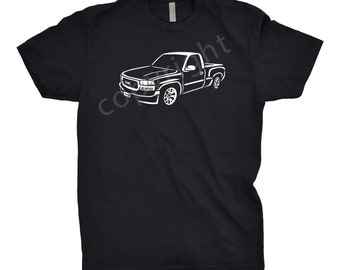 2002 GMC Truck Shirt, Car Enthusiast, 2002 GMC Stepside Truck, 2002 GMC Shirt, 2001 2002 2003 gmc Shirt, Gift, Car Art