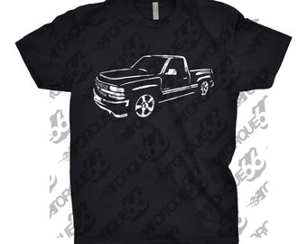 Hand Drawn Shirt of 2002 Chevy Silverado, Car Enthusiasts, 2002 Chevy Silverado, 2002 2003 2004 Chevy Silverado Shirt, Gift, Car Art