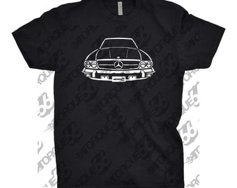 1989 Mercedes Benz 560 SL Shirt, Car Enthusiast, Gift, 1989 Mercedes 560 SL Shirt, Car Art, Hand Drawn, Mercedes Shirt