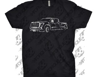Hand Drawn Shirt of GMC Dully, Car Enthusiasts, Unisex, Car Apparel, GMC Sierra, GMC Sierra Shirt, Classic Car Shirt, gmc Denali 3500 shirt
