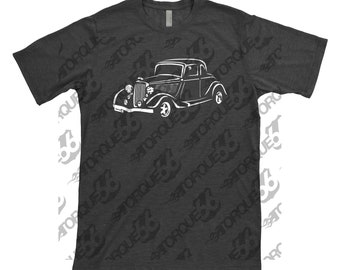 Hand Drawn Shirt of 1934 Ford, Car Enthusiasts, 1934 Ford Coupe, 1934 1935 1936 Ford Shirt, Gift, 34 Ford Shirt