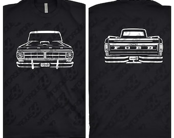 1971 Ford F100 Shirt, Car Enthusiast, Unisex, Gift, 1971 1972 1973 1974 Ford F100, 1971 Ford F100 Front and Back Shirt, Car Art
