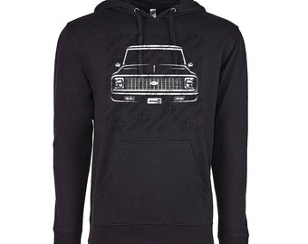 1972 Chevy C10 Hoodie, Car Enthusiast, 1972 Chevy C10 Sweatshirt, 1969 1970 1971 Chevy C10 Hoodie, Gift