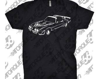 Classic Car Shirt of 1981 Pontiac Trans AM, Unisex, Car Enthusiasts, Car Apparel, Car T-Shirt, Gift, 1981 Trans AM