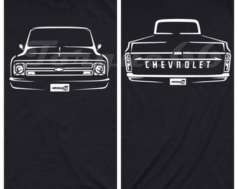 1968 Chevy C10 Shirt, Car Enthusiast, 1968 Chevy C10 Front and Back Shirt, 1965 1966 1967 1968 1969 Chevy C10 Shirt, Chevy c10 Shirt