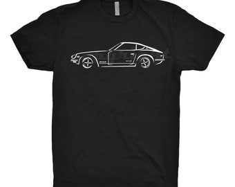 Classic Car Shirt of a 1970 Datsun 240Z, Classic Car Shirt, Car Enthusiast, 1970 1971 1972 1973 Datsun 240z shirt, Unisex,