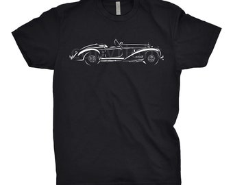 Classic Car T-Shirt of Bugatti, Unisex, Car Apparel, Hand Drawn, Mercedes Benz Shirt, Car Gift, Hot Rod Shirt, Bugatti Shirt
