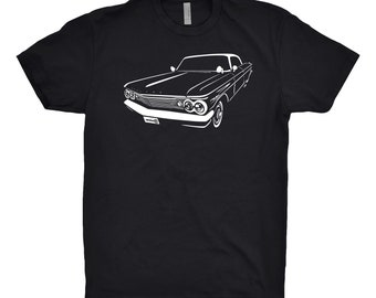 Classic Car Shirt of 1960 Pontiac Bonneville Shirt, Car Enthusiast, Pontiac Shirt, Pontiac Bonneville Shirt, Car Art, Hand Drawn