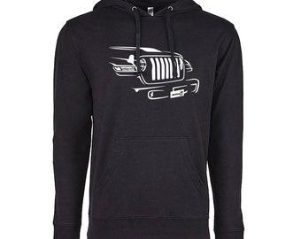 5a037b3fced8 Hand Drawn Art of Jeep Hoodie
