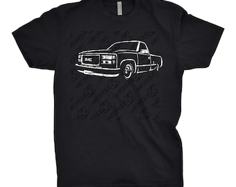 Classic Car Shirt of 1999 GMC Truck Shirt, Car Enthusiasts, Classic Car Shirt, Gift, GMC OBS, 1997 1998 1999 gmc Shirt, Car Art