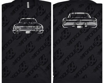 1967 Chevy Chevelle Shirt, Car Enthusiast, Gift, 1967 Chevy Chevelle Front and Back, Hand Drawn