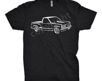 1988 GMC Shirt, Car Enthusiast, 1988 GMC Truck Shirt, 1988 GMC Stepside, 1987 1988 1989 1990 gmo Shirt, Gift, Classic Car Shirt, Car Art