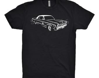 1966 Plymouth Fury Shirt, Car Enthusiast, Unisex Shirt, 1964 1965 1967 Plymouth Fury Shirt, Mopar Shirt, Hand Drawn, Car Art