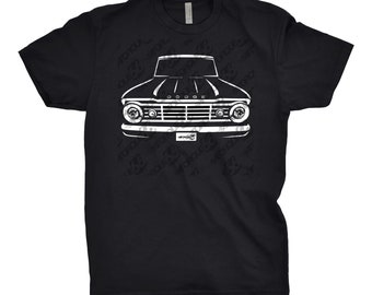Classic Car Shirt of a 1967 Dodge Truck, Car Enthusiast, Dodge d100 Shirt, 1963 1964 1965 1966 Dodge d100 Shirt, Classic Car Shirt, Car Art