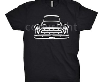 Classic Car Shirt of 1957 Chevy Truck, Car Enthusiast, 1957 Chevy Hoodie, 1956 1957 1958 Chevy Truck Shirt, 1957 Chevy Shirt, Gift, Car Art
