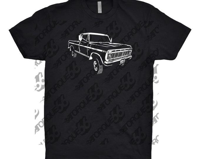 1975 Ford F250 Shirt, Car Enthusiast, Car Art, Car Gift, Classic Car Shirt, 1975 Ford Shirt, 1975 Ford F250