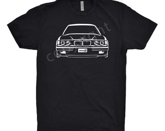 BMW 635 Shirt, Car Enthusiast, Classic Car Shirt, 1985 1986 1987 1988 1989 BMW Shirt, Car Art, BMW 535 Shirt, Hand Drawn bmw Shirt