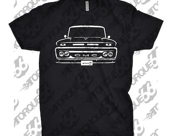 Classic Car Shirt of 1965 GMC Truck, Car Enthusiast, GMC Shirt, 1964 1965 1966 GMC Shirt, Gift, Hand Drawn, Car Art, 1966 gmc shirt