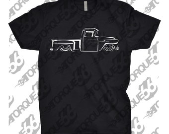 Classic Car Shirt of 1957 Chevy Apache Truck, Unisex, Car Enthusiasts, Car Apparel, 1957 1958 1959 Apache Truck Shirt