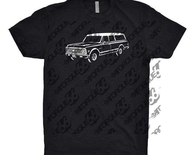 1972 CHEVY Suburban Shirt, Car Enthusiast, Car Gift, 1972 Chevy Truck, 1972 Chevy Suburban, Classic Car Shirt