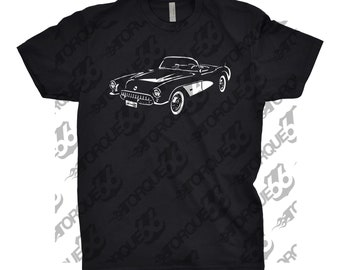 Classic Car Shirt of 1956 Corvette, Unisex, Car Enthusiasts, Corvette Shirt, Muscle Car Shirt, 1954 1955 1956 1957 Corvette Shirt