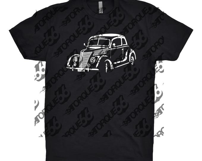 1937 Ford Shirt, Car Enthusiast, Car Art, 1937 Ford Coupe Shirt, 1937 Ford, Gift, Classic Car Shirt, Hand Drawn Shirt