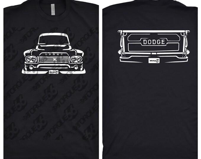 1960 Dodge Truck Shirt, Car Enthusiast, Car Art, Gift, 1960 Dodge Shirt, 1960 Dodge Truck Front and Back