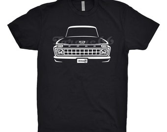 1965 Ford F100 Shirt, Car Enthusiast, Hand Drawn, Classic Car Shirt, Car Gift, 1963 1964 1965 1966 Ford F100 Shirt, Car Art