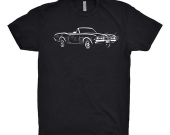 Classic Car Shirt of a 1968 Oldsmobile, Car Enthusiast, Oldsmobile 442, 1966 1967 1969 Oldsmobile Shirt, Hand Drawn, Oldsmobile Cutlass