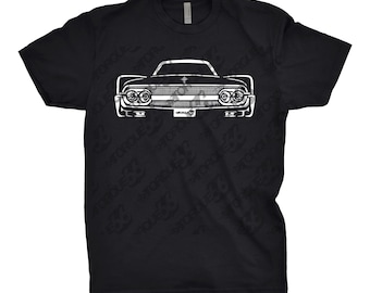 1961 Lincoln Continental Shirt, Car Enthusiast, Gift, 1961 Lincoln, 1961 1962 1963 1964 1965 Lincoln Continental Shirt, Hand Drawn, Car Art