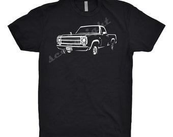 1979 Dodge D100 Shirt, Car Enthusiast, Unisex, 1978 1980 1981 Dodge D100 Shirt, Classic Car Shirt, Hand Drawn, Car Art
