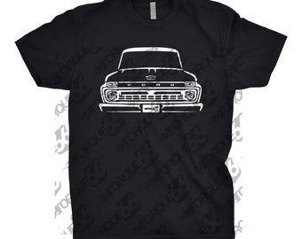 1966 Ford F100 Shirt, Car Enthusiast, 1966 Ford F100 Truck Shirt, Gift, Car Art, 1963 1964 1965 1966 Ford F100 Shirt, Ford F100 Shirt