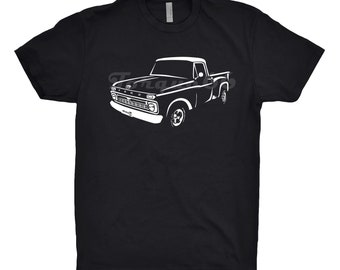 Classic Car Shirt of 1965 Ford F100 Truck, Car Enthusiast, Classic Car Shirt, 1964 1965 1966 1967 Ford F100 Shirt, 1965 Ford F100 Stepside