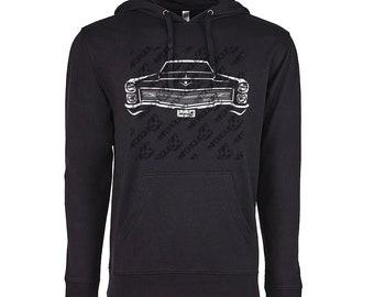 1966 Cadillac Deville Hoodie, Car Enthusiast, 1966 Cadillac Deville, 1965 1966 1967 1968 Cadillac Deville Hoodie, Cadillac Shirt,