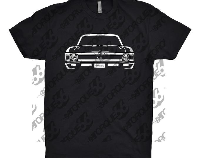 1970 Chevy Nova Shirt, Car Enthusiast, Car Art, 1970 Chevy Nova, 1970 Chevy Nova SS Shirt, Classic Car Shirt, Gift