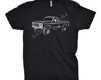 Classic Car Shirt of 1979 Ford F250, Car Enthusiast, 1976 1977 1978 1979 Ford Shirt, Ford F100 Shirt, Gift, 1979 Ford F100, 1979 Ford F150